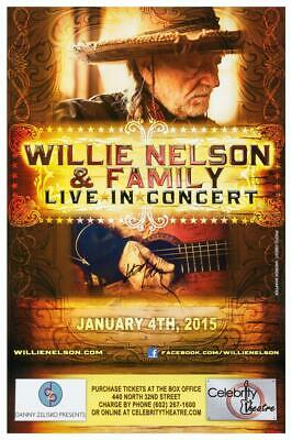 $15.94 • Buy Willie Nelson - POSTER - Live Concert W/Family - COUNTRY LEGEND