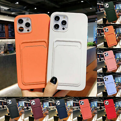 AU11.44 • Buy For IPhone 12 Pro Max 11 XS XR 8 7 Case Silicone Wallet Card Holder Slim Cover
