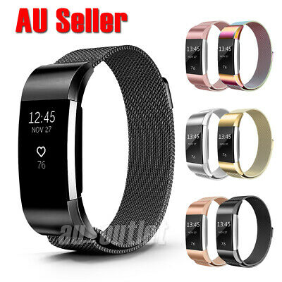 AU9.99 • Buy For Fitbit Charge 2 Band Metal Stainless Steel Milanese Loop Wristband Strap