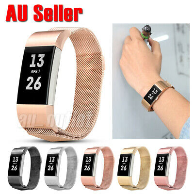 AU13.95 • Buy Metal Stainless Steel Milanese Loop Wristband Strap For Fitbit Charge 2 Band