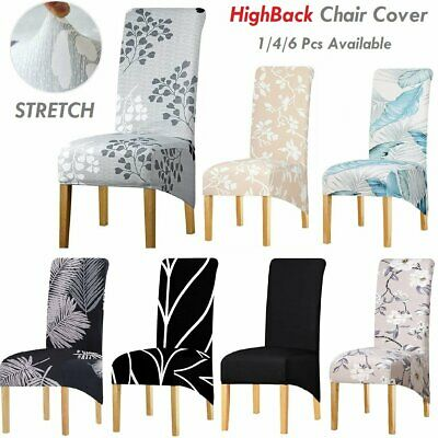 AU8.99 • Buy Stretch XL Dinning Chair Covers Seat Slipovers Spandex Washable Wedding Party AU