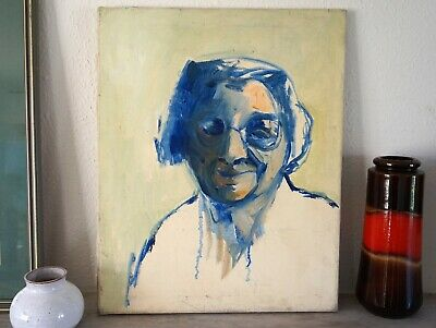 £25 • Buy Portrait Oil Painting On Canvas, Portrait Study, Abstract, Expressionist, MCM