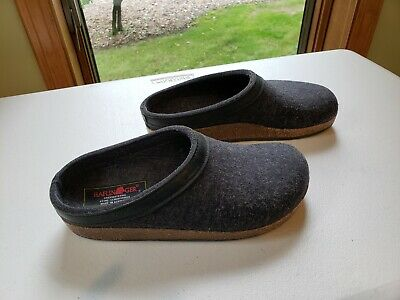 £28.92 • Buy Women's Haflinger Grizzly Wool Slip-On Clog Mule Slippers Gray Size US 7 EUR 38