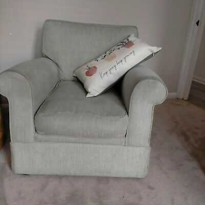 £10 • Buy Second Hand M&S Arm Chair, 85cmx90cm Good Condition, Duck Egg