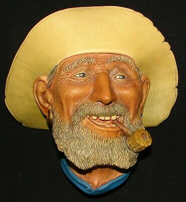 £18.08 • Buy Vintage BOSSONS Chalkware Head OLD TIMER 1977 England