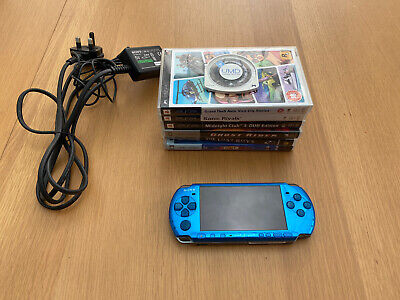 £45 • Buy Sony PlayStation Portable - Vibrant Blue 3003 Model & Charger FAULTY *See Desc*