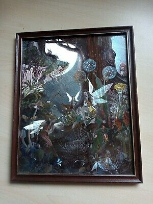 £14.99 • Buy Vintage Dufex Foil Fairy Fantasy Myth Magic Fable Framed Picture