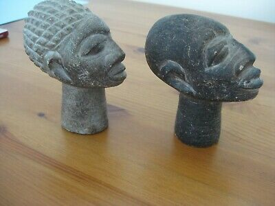 £20 • Buy A Pair Of African Soapstone Carved Heads