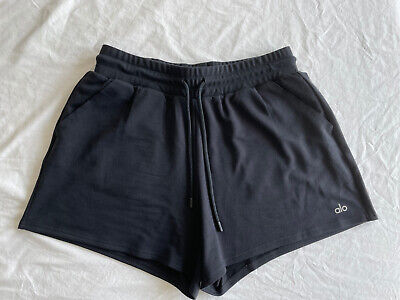 £32.01 • Buy Alo Yoga Dreamy Shorts - Size M - Black - New Without Tags
