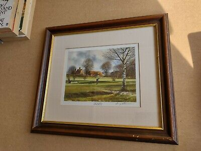 £19.99 • Buy Terry Harrison - Chip And Run (golf) Signed Open Edition Print Framed