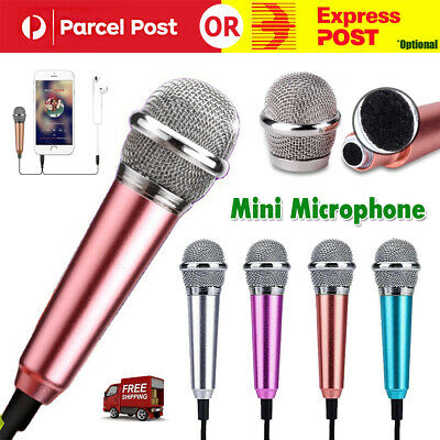 AU7.95 • Buy Mini Microphone Portable Vocal For Mobile Phones Laptops Mobile Phones Notebook
