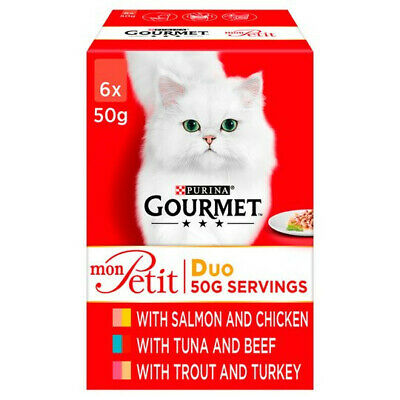 £22.99 • Buy Gourmet Mon Petit Adult Cat Food Fish And Meat 48 X 50g Pouches