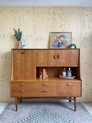 £450 • Buy Mid Century Retro G Plan E Gomme Highboard Sideboard Drinks Cabinet