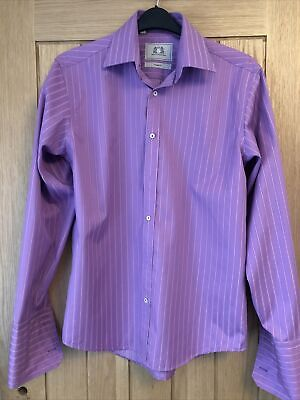 """£5.50 • Buy Next Mens Pink Tailored Fit 15 1/2"""" Shirt"""