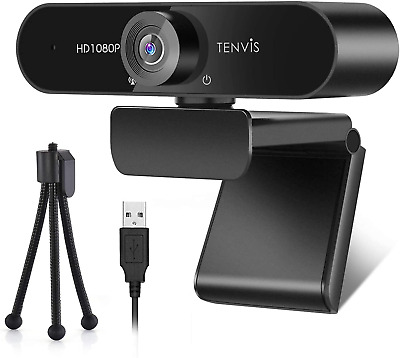 £25.17 • Buy TENVIS 1080P Webcam FULL HD Webcam With 120° Wide Angle, Streaming Camera With &