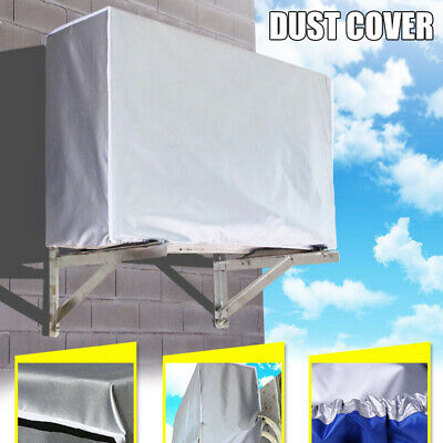 AU13.39 • Buy 2pcs Outdoor Air Conditioner Cover Protector Anti-Dust Waterproof Sunproof