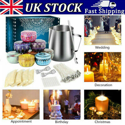 £18.23 • Buy Complete Candle Melt Making Kits Starter Dyes Wicks Soy Wax Candle Pitcher DIY