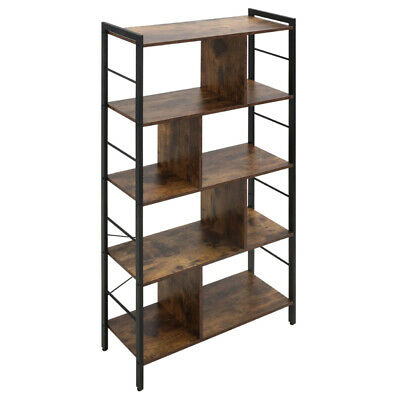 £62.80 • Buy Vintage Industrial Bookcase Tall Display Storage Shelving Unit Stand Metal Retro