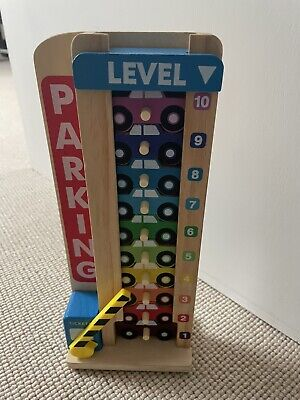 £7.50 • Buy Melissa & Doug Kids Toy - Stack & Count Wooden Parking Garage With 10 Cars