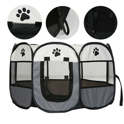 £14.49 • Buy Large Portable Pet Dog Cat Playpen Tent Oxford Fabric Fence Kennel Cage Crate-/