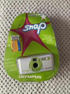 £34.99 • Buy New Olympus I Snap APS Film Point & Shoot Camera W/ Film And Battery Rare