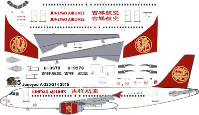 £7.26 • Buy Juneyao Airlines Airbus A-320 Pointerdog7 Decals For Revell 1/144 Kit
