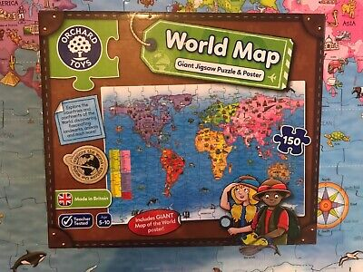 £8.50 • Buy Orchard Toys World Map Giant Jigsaw Puzzle And Poster