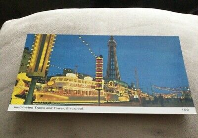 £1 • Buy Postcard Illuminated Trams And Tower Of Blackpool Unposted Post Card