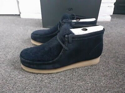 £40 • Buy Clarks Wallabee Boots Navy Suede Size Uk 8 D 42 Women's New In Box