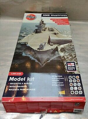 £25 • Buy Airfix Hms Illustrious 1:350 - Boxed - Started But All Complete - Royal Navy