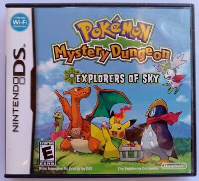 $55 • Buy Pokemon Mystery Dungeon: Explorers Of Sky NO GAME -  Case+Manual+Inserts ONLY.