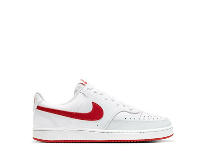 $49.99 • Buy Mens Nike Court Vision Low Basketball Shoes Sneakers White Red CD5463 102 Lo