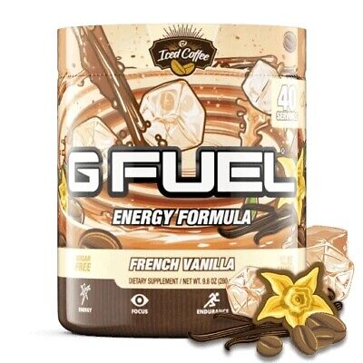 £31.99 • Buy G Fuel French Vanilla Iced Coffee 40 Servings Tub 🇬🇧 Top Gfuel Energy Seller