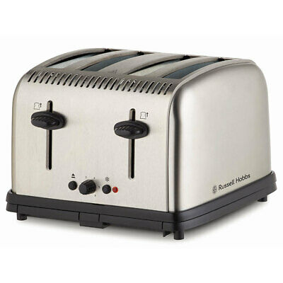 AU69 • Buy Russell Hobbs Classic Electric 4-Slice Bread Toaster Stainless Steel Brushed SLV