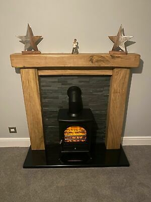 £199 • Buy Hand Crafted Oak Beam Fire Surround, Rustic Made To Measure