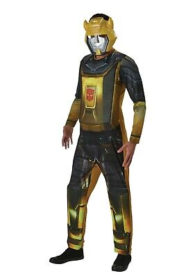£9.99 • Buy Mens Superhero Transformers Bumblebee Adult Fancy Dress Costume Outfit Size Xl