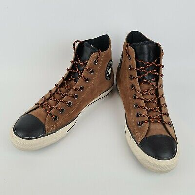 £29.99 • Buy Converse Chuck Taylor All Star Hi Suede Leather Cashew Brown Black - Size UK 8