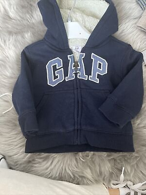 £3 • Buy Baby Gap Zip Up Hooded Jacket - Navy - Size 6-12 Months 6-9 9-12
