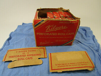 £145.48 • Buy Vintage Carton Of 46 Boxes Of Kilgore Toy Paper Perforated Roll Cap Gun No.150