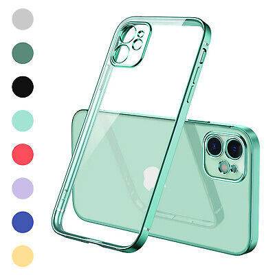 AU11.37 • Buy SHOCKPROOF CLEAR Plating Case For IPhone 13 12 11 Pro MAX Mini XR XS X 7 8 Plus