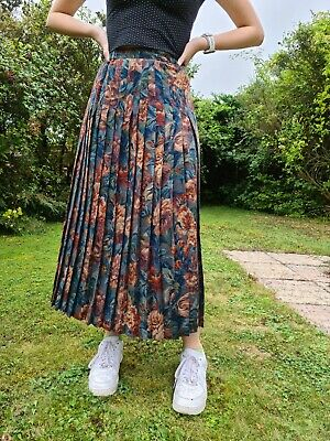£3.10 • Buy Penny Plain Womens Pleated Fully Lined Floral Midi Skirt Size 14