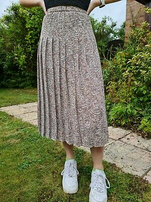 £6.60 • Buy Cotswold Collections Womens Pleated Fully Lined Spotty Midi Skirt Size 14