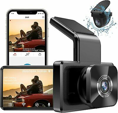 AU163.60 • Buy AUTOWOEL Dual Dash Cam With WiFi GPS, Front And Rear Car Camera