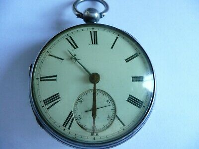 £39.99 • Buy Antique Silver Cased Key Wind  Fusee Pocket Watch   With Rare Misspelling.