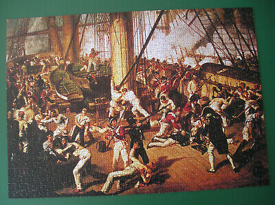£3 • Buy A Falcon Deluxe Jigsaw Of The Death Of Nelson At The Battle Of Trafalgar