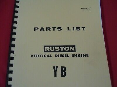 £14 • Buy Ruston And Hornsby--YB Spares Manual