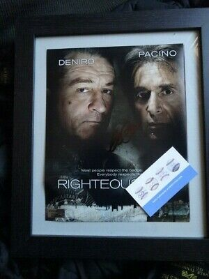 £149 • Buy Al Pacino Signed - Righteous Kill Film Poster Scarface **Framed**  COA Witnessed