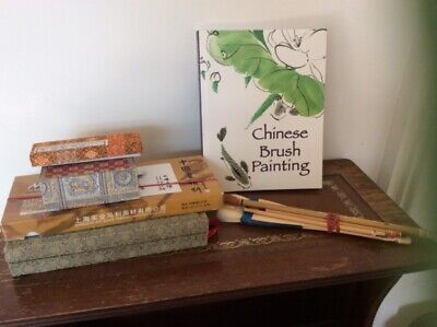 £20 • Buy CHINESE BRUSH PAINTING MATERIALS - Brushes Colours Book Paper Block Inkwell
