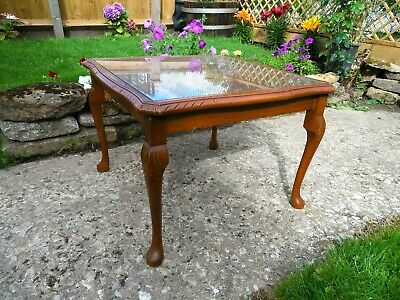 £12 • Buy Mahogany Square Coffee Table On Cabriole Legs  16/8F