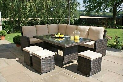 £399 • Buy 8 Seater Dining Set - Rattan Garden Furniture With Cushions